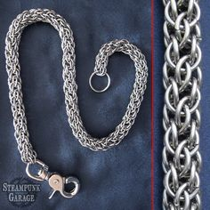Wallet Chain - Spirally Goodness - Stainless Steel. $120.00, via Etsy.