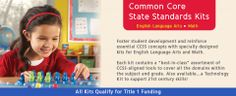 """Actively engage students with our ELA (English Language Arts) and Math Common Core State Standards (CCSS) kits! Each kit includes a """"best-in-class"""" assortment of CCSS-aligned tools to cover all the domains for kindergarten through grade 4. Foster student development and reinforce essential CCSS concepts with these specially designed kits!"""