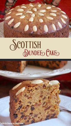 Homemade Frosting, Homemade Cakes, Dundee Cake Recipe, Coffee Cake Loaf, British Dishes, Cake Recipes, Dessert Recipes, Good Pie, Scottish Recipes