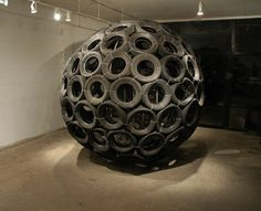 sphere by jason peters, reclaimed tires,design squish blog