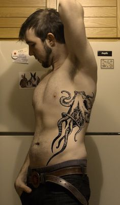 Octopus Tattoo... If Beeben is still trying to figure out a tattoo he wants, this idea is siiiick