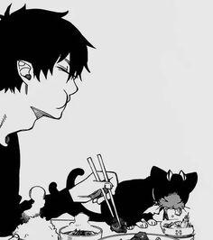Ao no exorcist, Blue exorcist, Rin, Kuro Kuro Ao No Exorcist, Blue Exorcist Anime, Comic Anime, Manga Anime, Anime Art, Sao Anime, Rin Okumura, Me Me Me Anime, Anime Guys