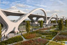 Ribbon of Light bridge by Michael Maltzan begins construction in LA. Dr Seuss lives and we are happy. #Feb2016