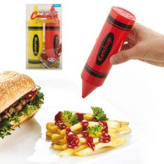 Condiment Crayons Shaped Tomato Ketchup Mustard Sauce Dispensers Squeezy Bottles | eBay