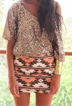 I'm into the Indian print and sequins