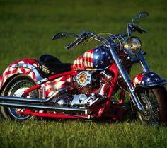 USMC Chopper || Patriotic Motorcycle | American Flag