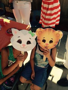 Daniel tiger and friends masks! (Printable found on pbs.org)