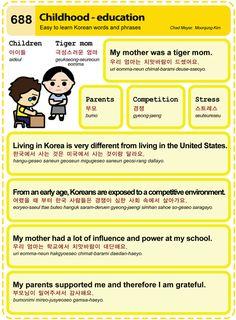 688 Learn Korean Hangul: Childhood - education