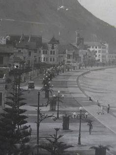 A recém inaugurada Avenida Atlântica em 1919.   OK