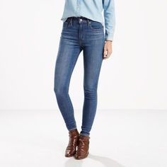 These jeans live up to their name, with an ultra high rise and extra skinny leg. It's a slim-fitting, sexy silhouette that flatters your frame.