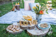Summer Wedding Picnic Inspiration. Photo Source: Elisa Event Design. #weddingpicnic #summerwedding