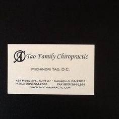 #drtao #taofamilychiropractic #camarillo