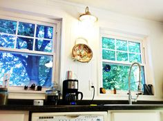 DIY fake window panes - just white electrical tape!! Doing this to the whole house!