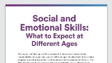 Graphic of Social and emotional skills: what to expect at different ages