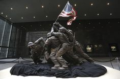 Remembering Iwo Jima  For four decades, the original cast stone version of the Marine Corps Memorial statute of soldiers raising the American flag over Iwo Jima was hidden under a tarp in the backyard of its sculptor, Felix de Weldon. In 1990, World War II buff Rodney Brown discovered the statute and procured it from de Weldon, and in 2013 it was sold at auction.