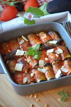 Cannellonis d'aubergines à la ricotta - Le blog de C'est Nathalie qui cuisine Gluten Free Recipes, Vegetarian Recipes, Healthy Recipes, Buffet, Cannelloni, Batch Cooking, Antipasto, Vegetable Recipes, Coco