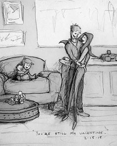 Este artista quiso demostrar su amor por su esposa con estas ilustraciones: Ella siempre será el amor de su vida.