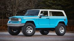 Meet the Jeep Chief concept; a Wrangler-based redux of the classic Cherokee Chief. It's a perfect port of Jeep's 70's style onto their modern platform. Under that surfer-style exterior are Fox shocks, Rubicon rock rails, and Dana 44 axles to make this one all-around amazing conversion.