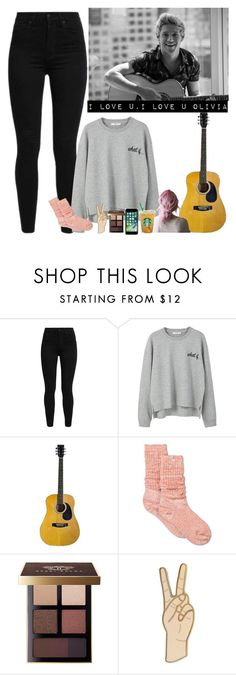 """""""practicing Olivia on the guitar with Niall❤"""" by nblankenship ❤ liked on Polyvore featuring Levi's, MANGO, UGG, Bobbi Brown Cosmetics and Lucky Brand"""