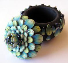 *POLYMER CLAY ~ Trinket box, Clayworks by Kim Detmers