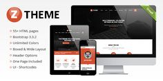 Ztheme is a capable topic that permits you to make any style, including more than HTML pages , different headers, rich determination of shortcodes-UI (more than ) components. Taking into account the most recent Bootstrap Responsive Template, Web Project, Themes Themes, First Page, Most Popular, Layout, Templates, Headers, Determination