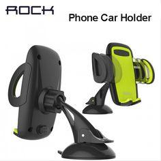 바위 모바일 자동차 전화 홀더 스탠드 조정 지원 6.0 인치 360 회전 아이폰 6 플러스/5 초 삼성 갤럭시 노트 7 S6 s7 가장자리