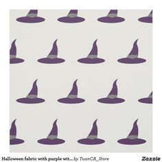 Halloween fabric with purple witch's hat