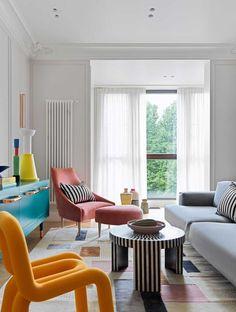 Accente vesele de culoare și decor jucăuș într-un apartament din Moscova | Jurnal de Design Interior