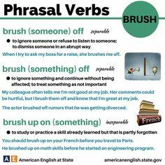 phrasal verbs american english at state English Teaching Resources, English Writing Skills, English Language Learning, Education English, English Tips, English Study, English Lessons, Learn English, Advanced English