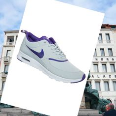 Nike Air Max Thea Print Argento Wing / Pure Platinum / Viola Court Scarpe Da Donna.Good quality!You are worthy to wear it .