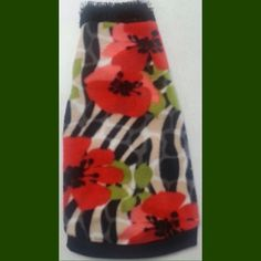 "Red, black, and green flower fleece with fur! ""Poppy"" Perfect cat shirt, fleece for your Sphynx, Petrrbald, Devon Rex, Cornish Rex"