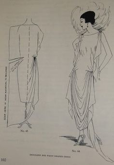 Easy Vintage Dress Pattern, 1920s Dress Pattern