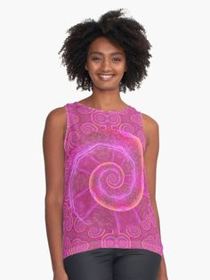 A hot pink spiral pattern design with light pink highlights and orange highlights. • Millions of unique designs by independent artists. Find your thing.
