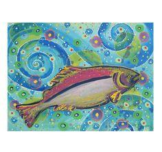 Salmon Swirls Blue