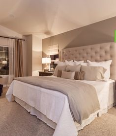 Great color palette; love the headboard
