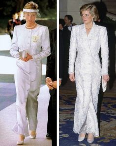 HRH🌹Princess Diana of Wales in Catherine Walker coat-dresses Princess Diana Dresses, Princess Diana Fashion, Princess Diana Family, Princess Diana Pictures, Princes Diana, Royal Family Portrait, Royal Family Pictures, Catherine Walker, Lady Diana Spencer