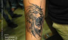 Abstract Lion Tattoo