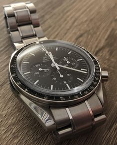 [Omega] Speedmaster Professional Sapphire sandwich Pocket Watches, Wrist Watches, Watches For Men, Speedmaster Professional, Watch This Space, Omega Speedmaster, Insta Pic, Omega Watch, Cool Photos