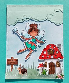Simon says stamps Secret Garden , every stamp is beyond cute, today the fairy tomorrow the gnome! Can't wait !