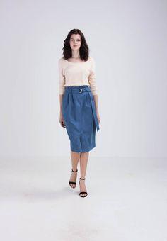 Bleistiftrock - blue