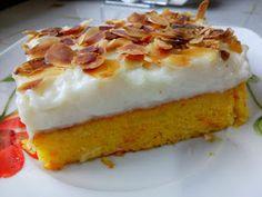 ΜΑΓΕΙΡΙΚΗ ΚΑΙ ΣΥΝΤΑΓΕΣ 2: Πορτοκαλόπιτα με κρέμα και φιλέ αμυγδάλου !!!! Greek Sweets, Greek Recipes, Syrup, Kai, French Toast, Cheesecake, Breakfast, Desserts, Food