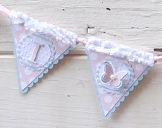 1st Birthday Shabby Chic High Chair Banner by CardsandMoorebyTerri, $15.00