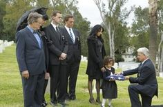 Gibbs, Tony, Abby, McGee, Ducky, Leyla & Amira at Mike's funeral