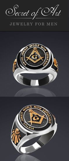Masonic Ring Freemason Silver 925 All Seeing Eye With Parts for sale online Square Tool, Masonic Jewelry, Masonic Symbols, All Seeing Eye, Freemasonry, Knights Templar, Watches For Men, Sun Moon, Rings For Men