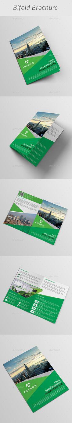 Corporate Bi-fold Brochure Template #design Download: http://graphicriver.net/item/corporate-bifold-brochure/12375584?ref=ksioks