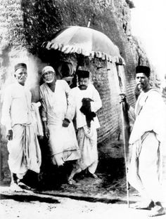 Shirdi Sai Baba along his with devotees and followers,at msjid where sai used to stay.