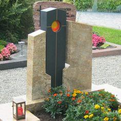 Grabstein mit Sonnenglas