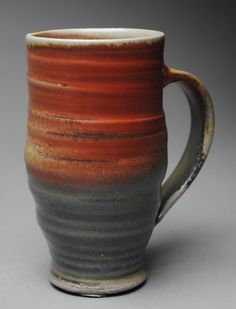 Clay Coffee Mug Beer Stein Wood Fired K43 by JohnMcCoyPottery. www.etsy.com/shop/JohnMcCoyPottery
