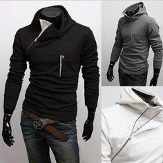 Men's Side Zipper Pull Over Hoodie.BUY direct for $37.95 only (reg 49.95)