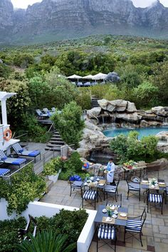 Enjoy a private oasis along the rocky shores in Cape Town South Africa. Twelve Apostles Hotel & Spa in Cape Town South Africa.